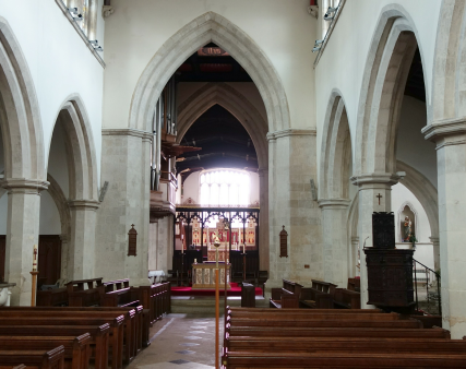 View from the west end of the nave